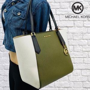 NWT Michael Kors Kimberly Large Bonded Leather Bag